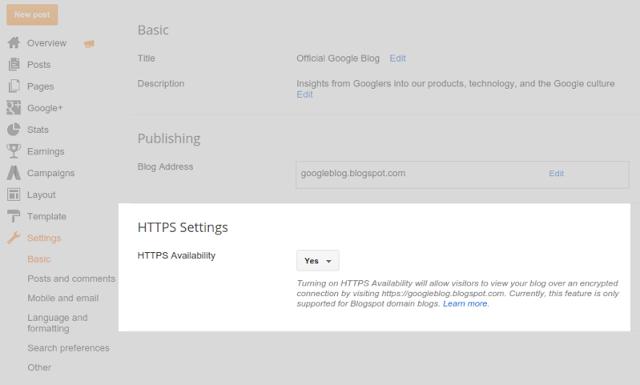 Custome domain blogger menjadi https